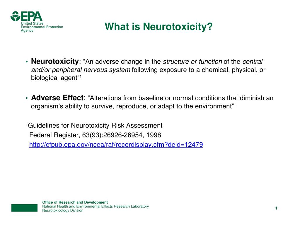 What is Neurotoxicity?