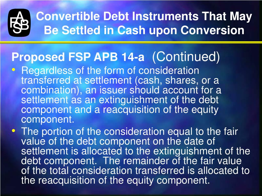Convertible Debt Instruments That May Be Settled in Cash upon Conversion
