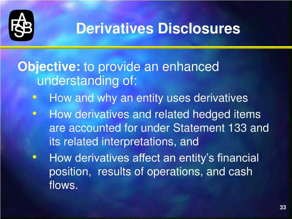 Derivatives Disclosures