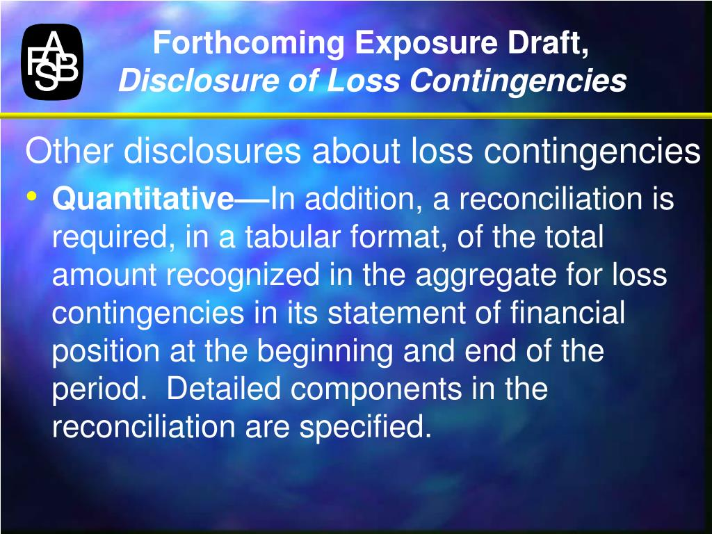 Forthcoming Exposure Draft,
