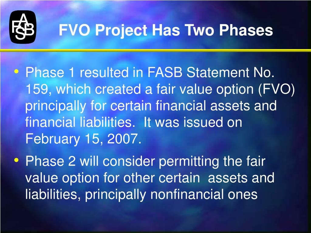 FVO Project Has Two Phases