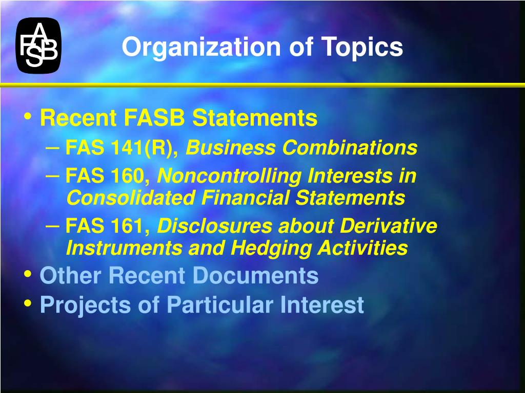 Organization of Topics