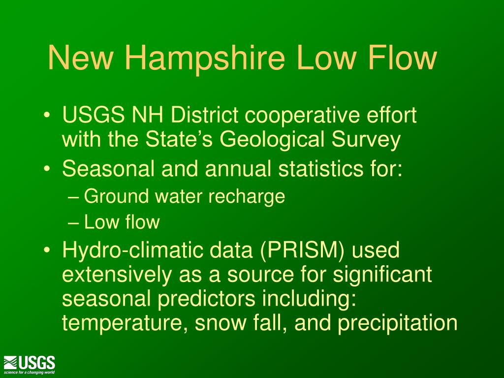 New Hampshire Low Flow