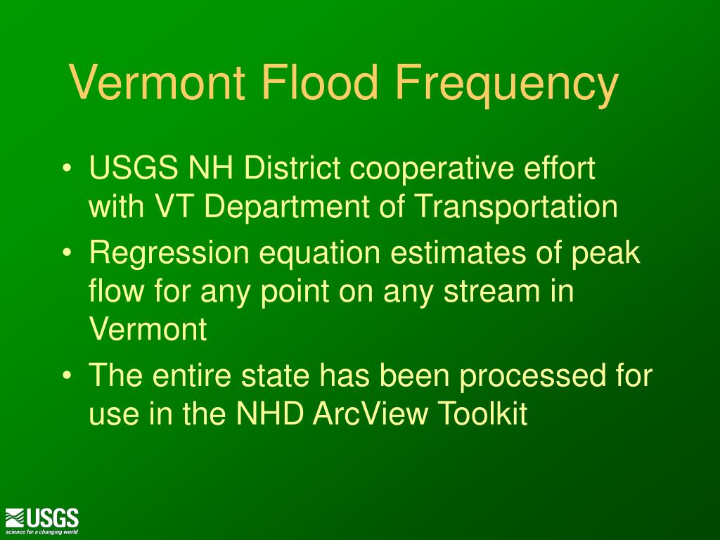 Vermont Flood Frequency