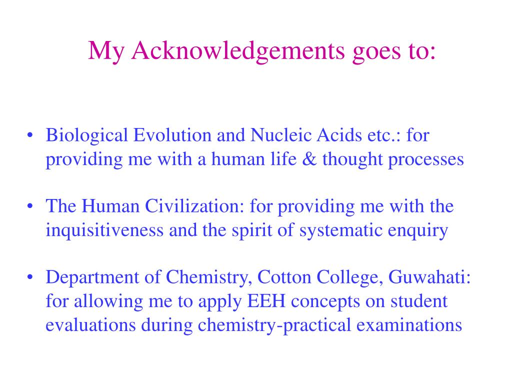 My Acknowledgements goes to: