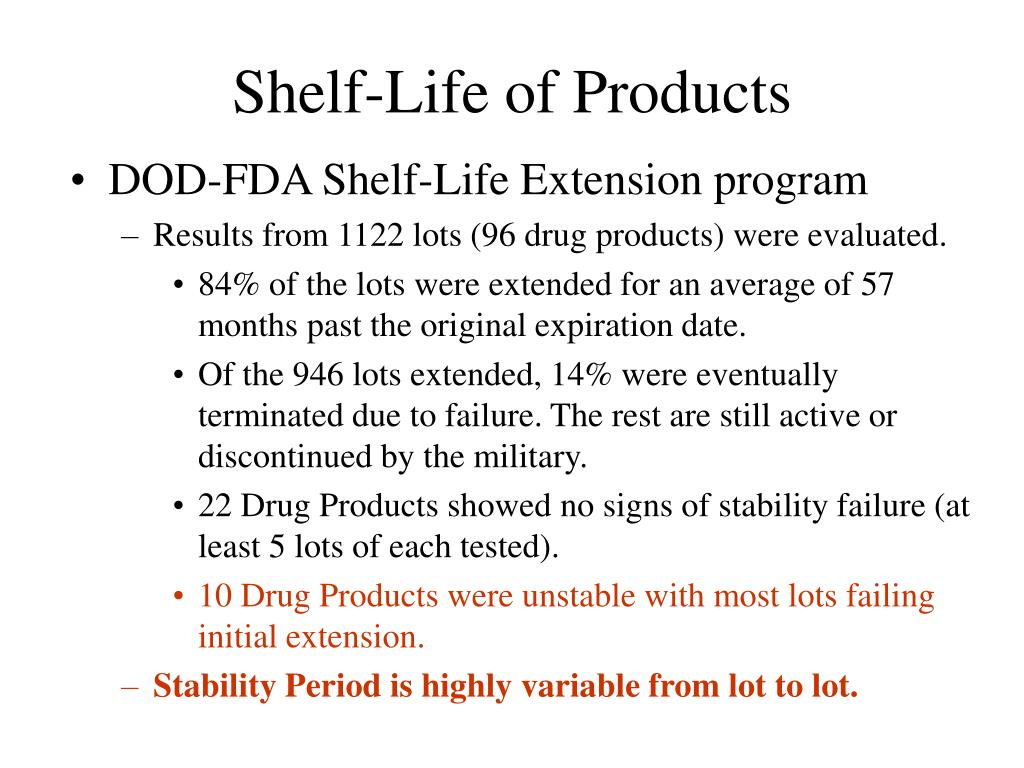 Shelf-Life of Products