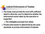 judicial enforcement of treaties
