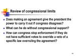 review of congressional limits