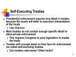 self executing treaties