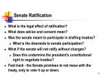 senate ratification
