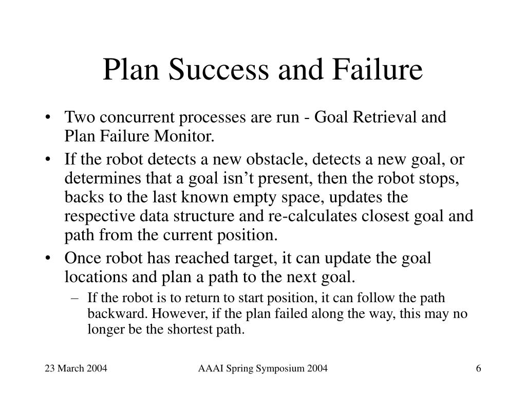 Plan Success and Failure