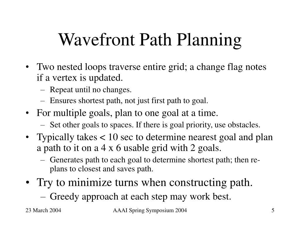 Wavefront Path Planning