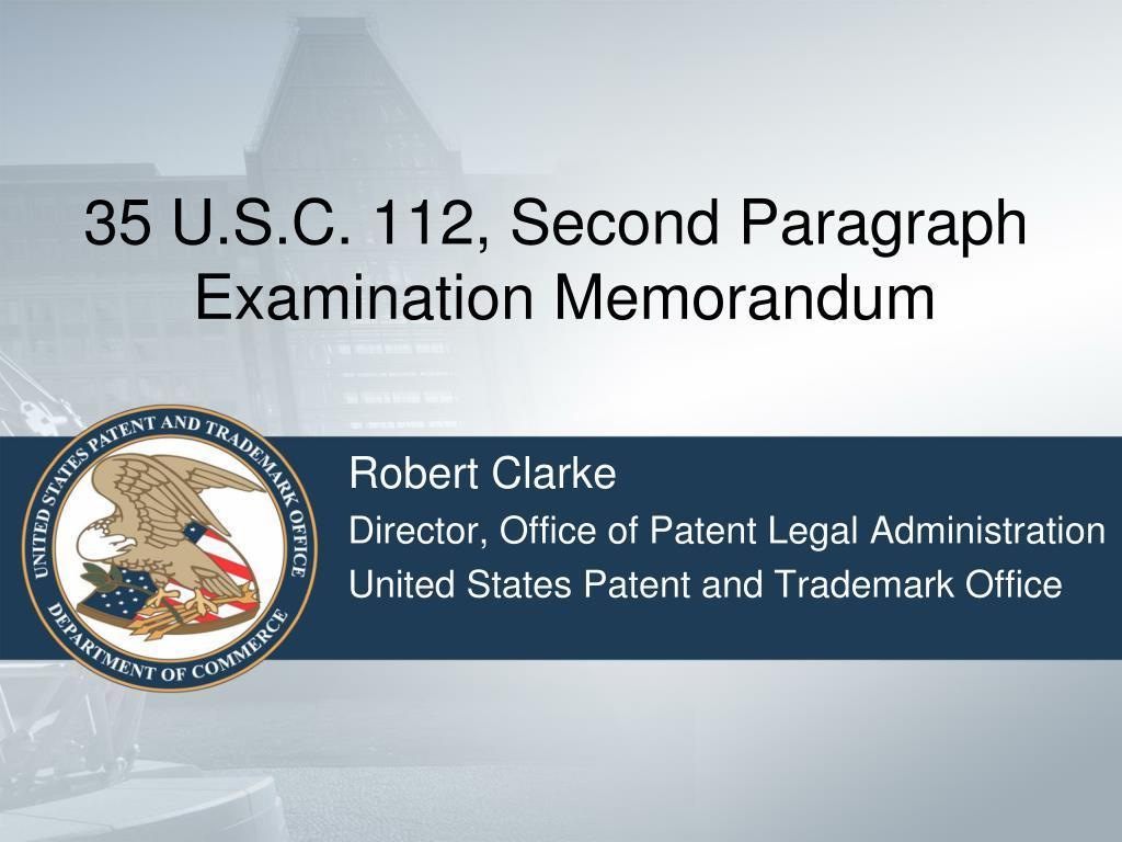 35 U.S.C. 112, Second Paragraph