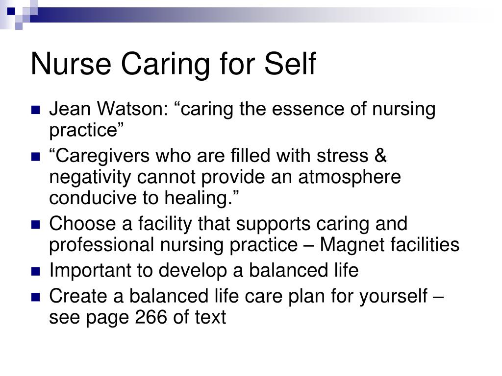Nurse Caring for Self