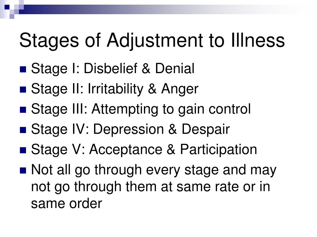 Stages of Adjustment to Illness