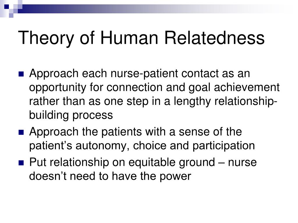 Theory of Human Relatedness