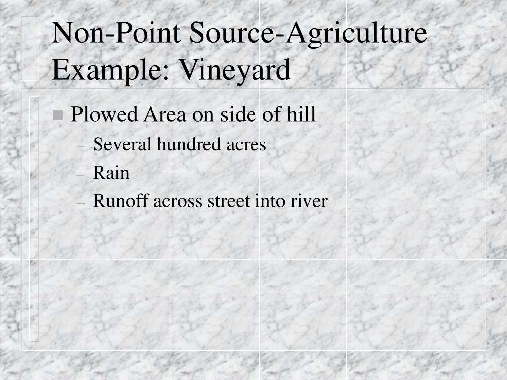 Non-Point Source-Agriculture Example: Vineyard