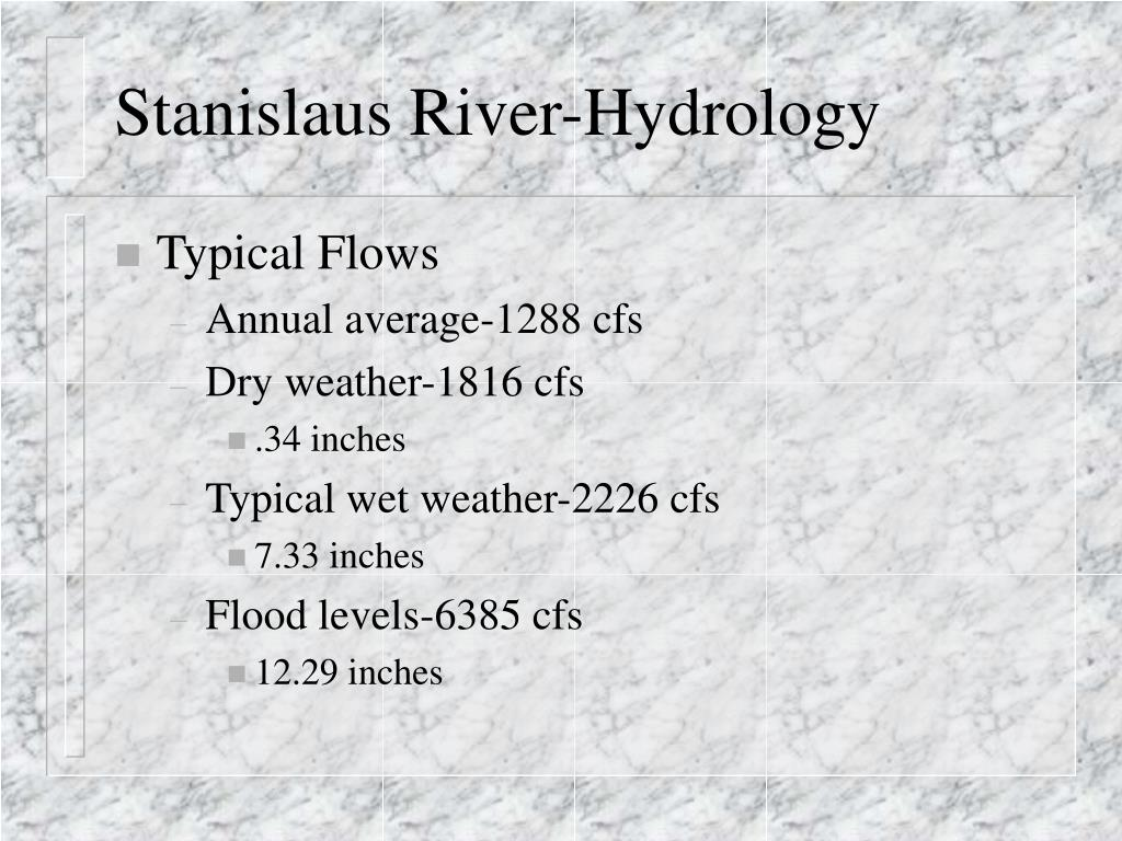 Stanislaus River-Hydrology