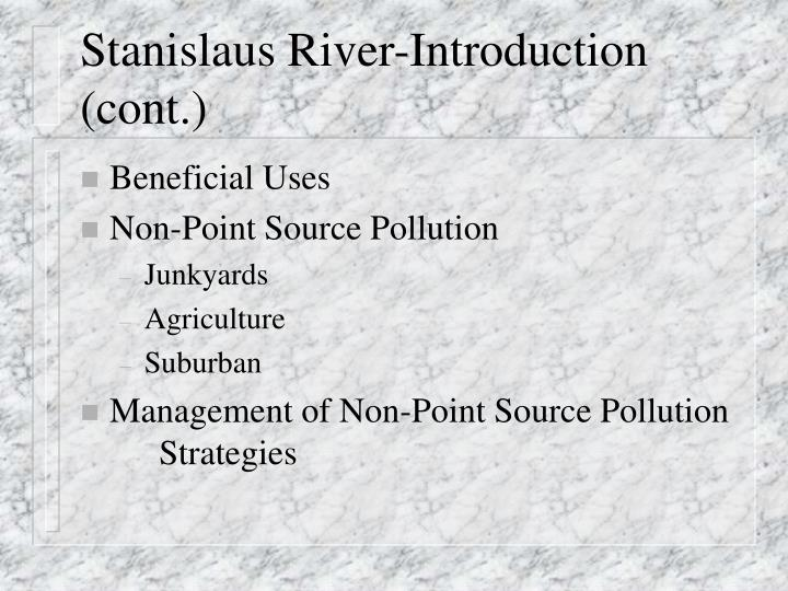 Stanislaus river introduction cont
