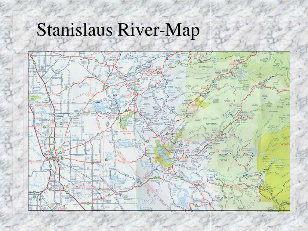 Stanislaus River-Map