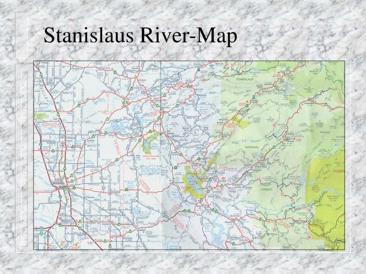 Stanislaus river map
