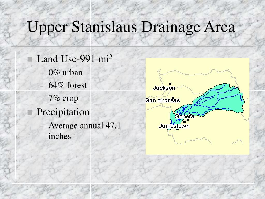 Upper Stanislaus Drainage Area