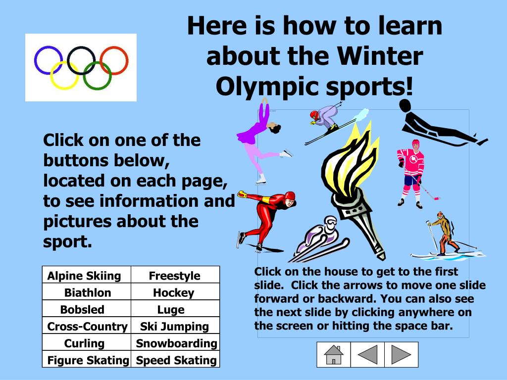 Here is how to learn about the Winter Olympic sports!