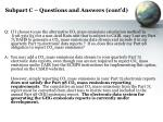 subpart c questions and answers cont d