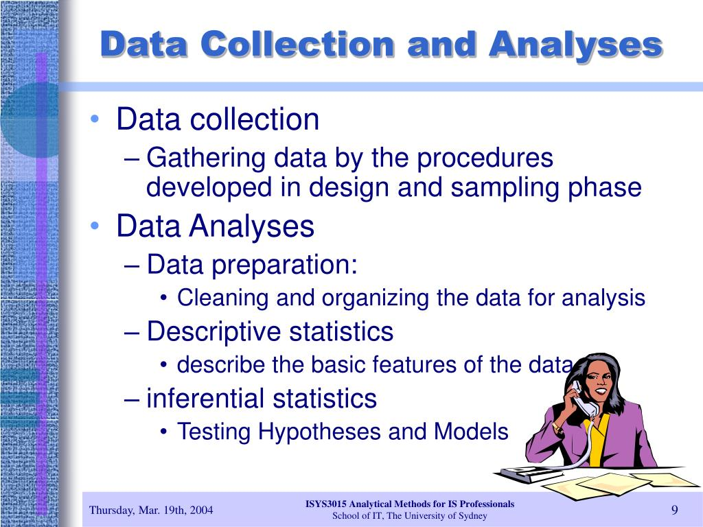 Data Collection and Analyses
