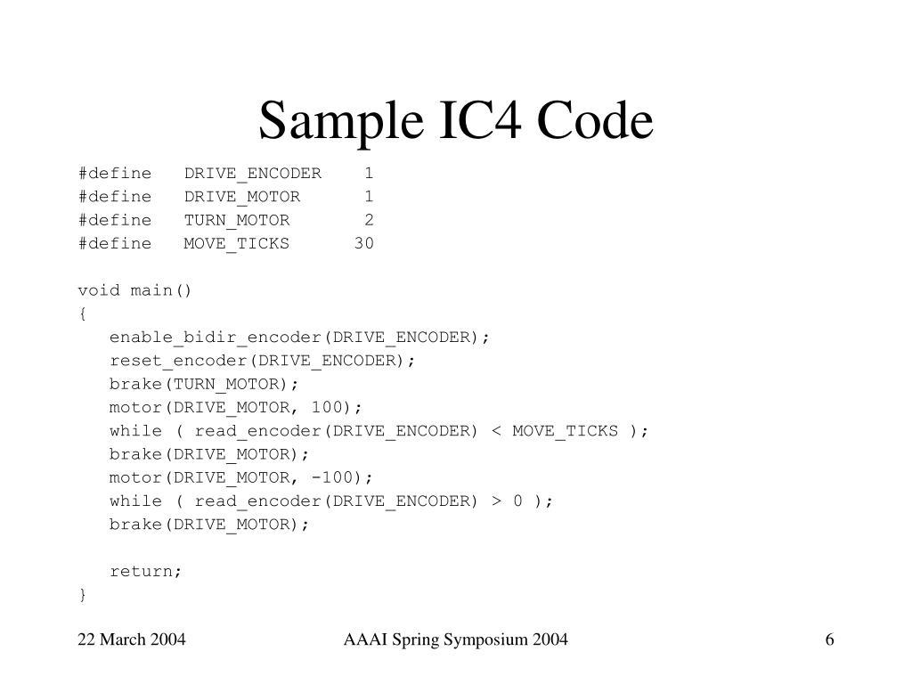 Sample IC4 Code