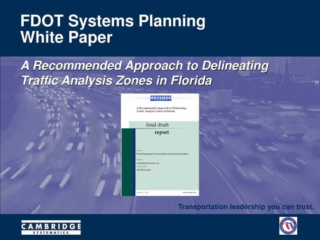 FDOT Systems Planning