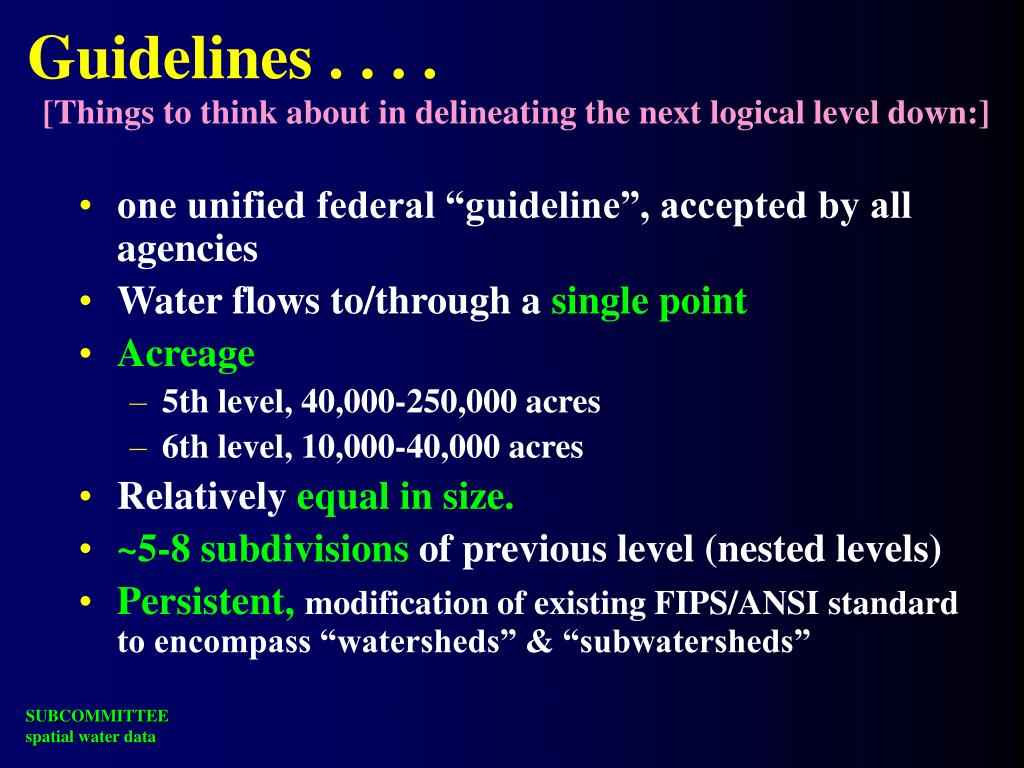 Guidelines . . . .