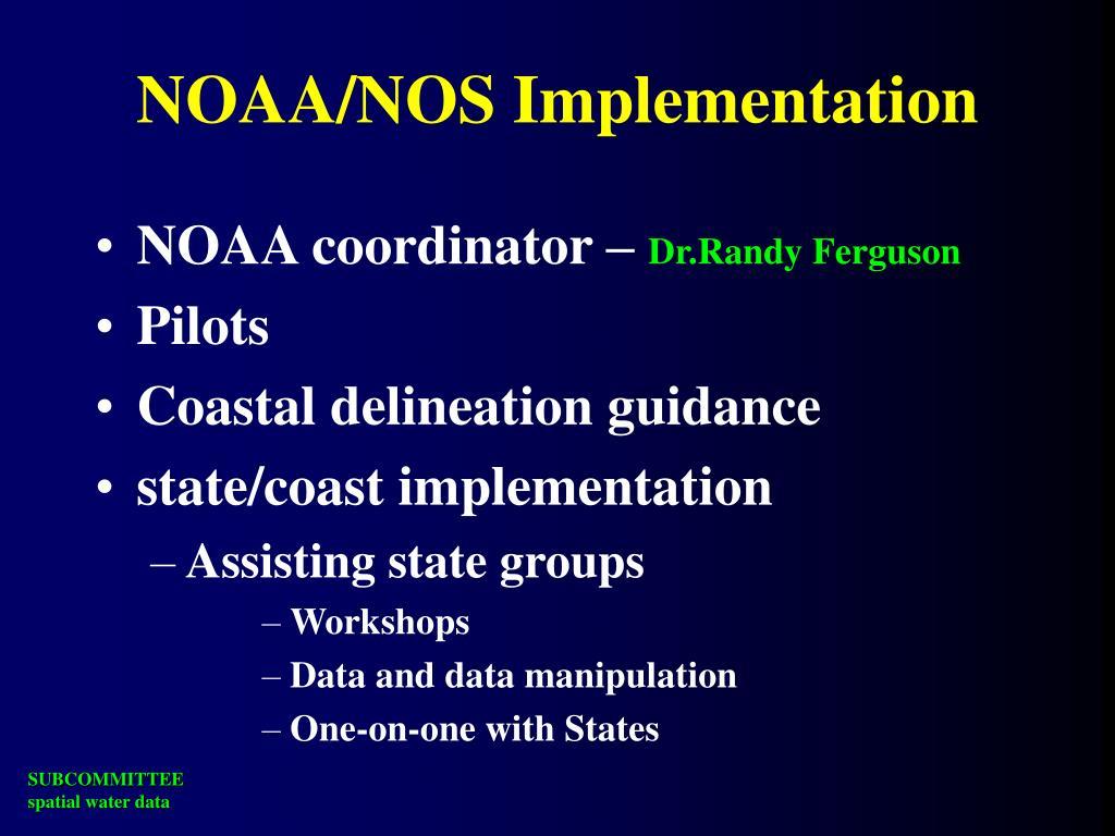 NOAA/NOS Implementation