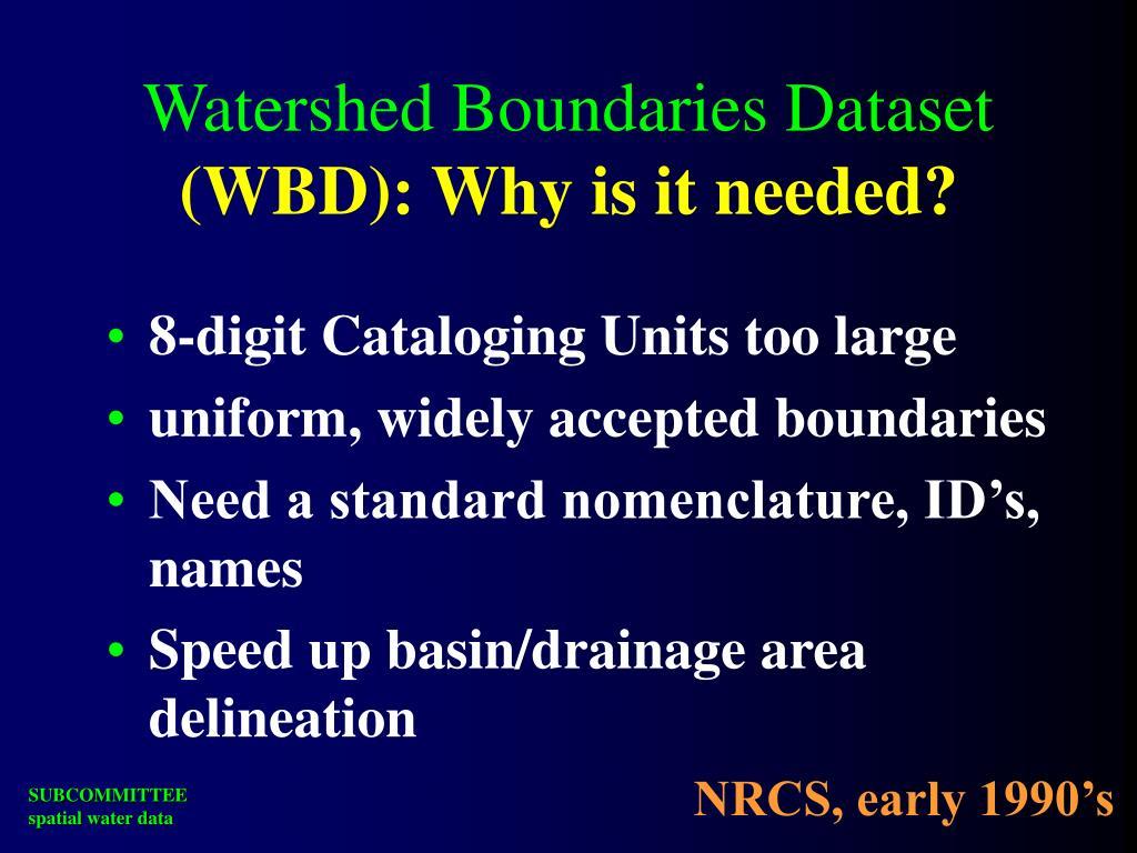 Watershed Boundaries Dataset