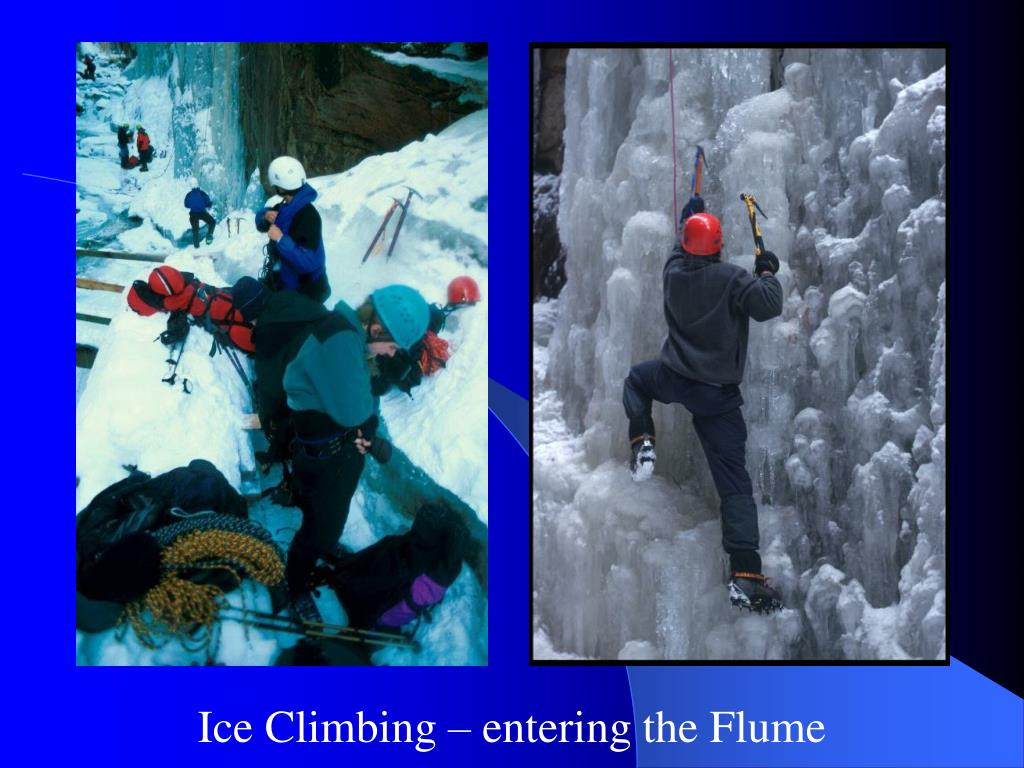 Ice Climbing – entering the Flume