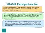 yhycys participant reaction