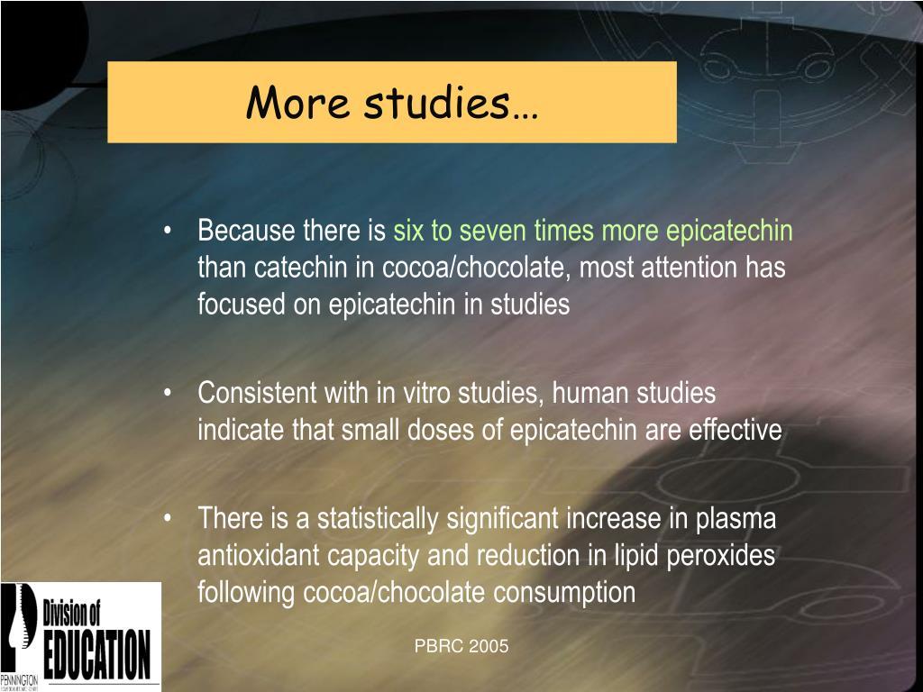 More studies…