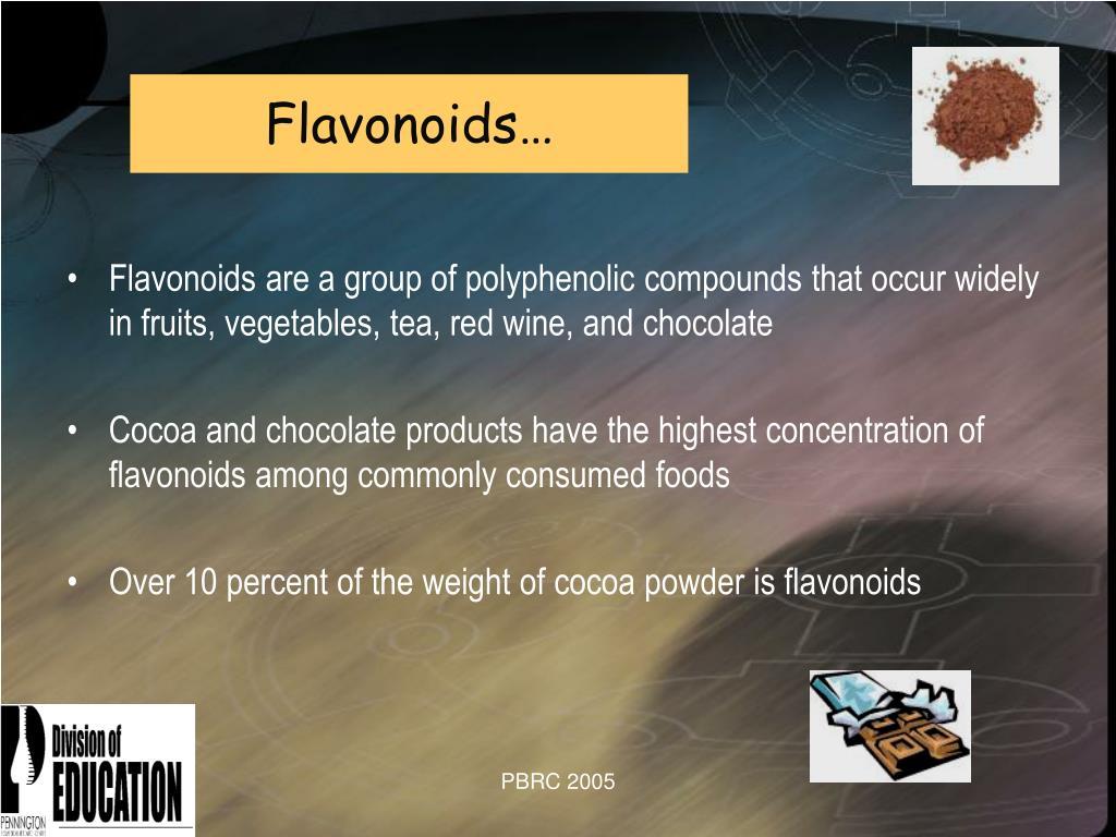 Flavonoids…