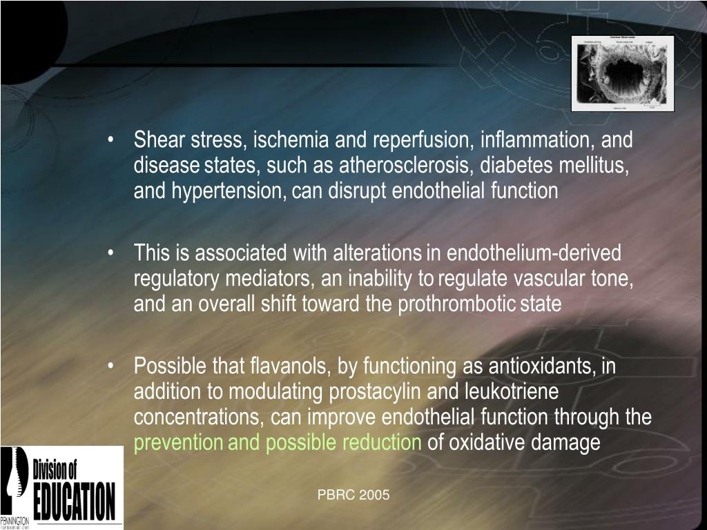 Shear stress, ischemia and reperfusion, inflammation, and disease