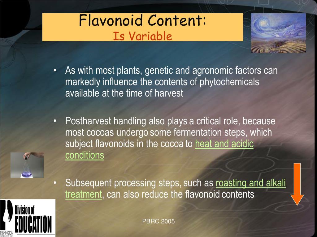 Flavonoid Content: