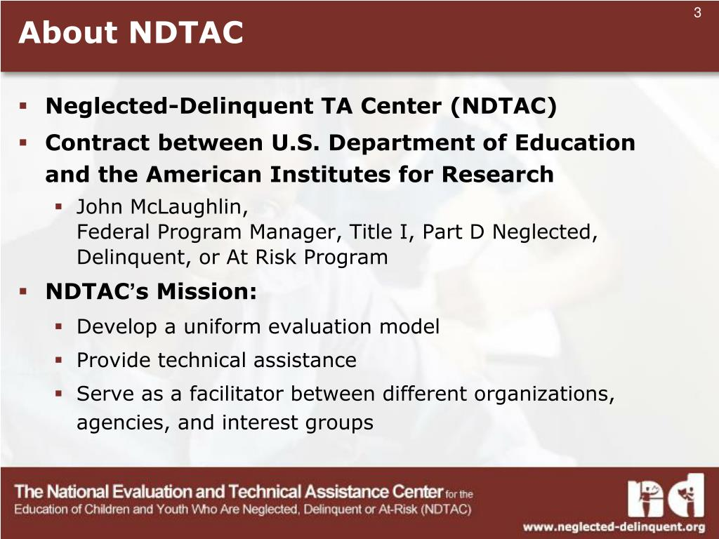 About NDTAC