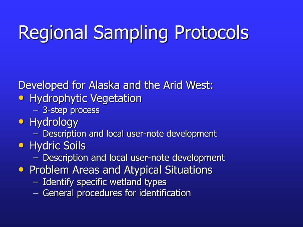 Regional Sampling Protocols