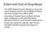 extent and cost of drug abuse7