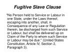 fugitive slave clause