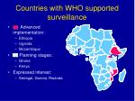 countries with who supported surveillance