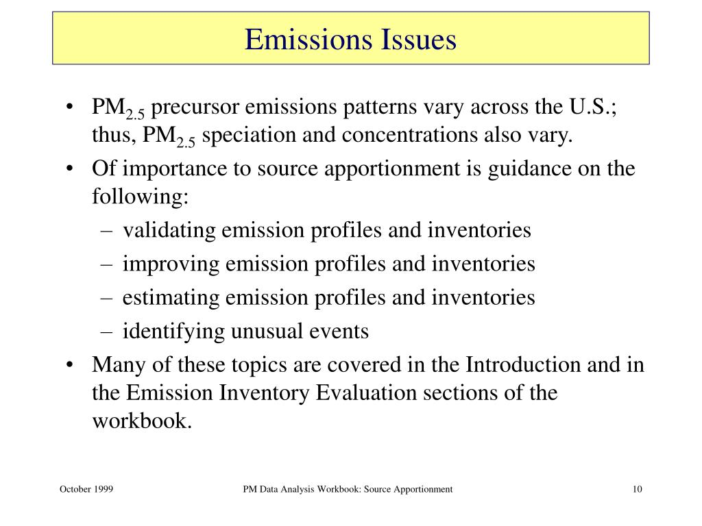 Emissions Issues