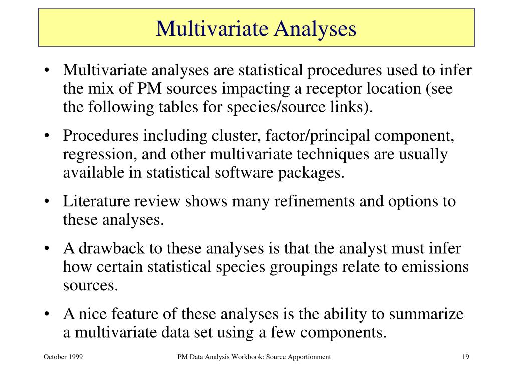 Multivariate Analyses