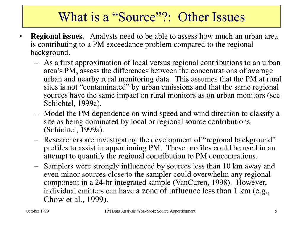 """What is a """"Source""""?:  Other Issues"""