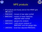 mpe products