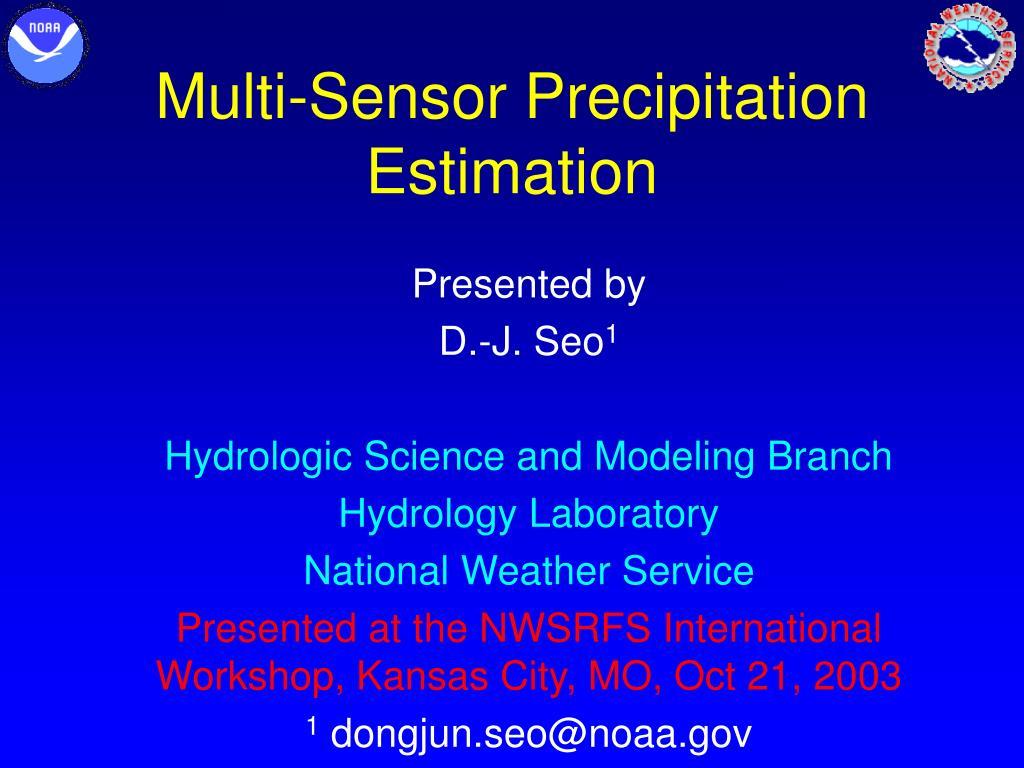 multi sensor precipitation estimation